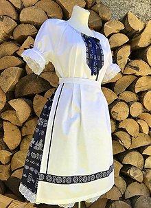 Šaty - Folklórny dámsky kroj Čičmany tmavý - 12277104_