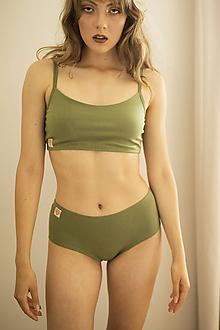 Bielizeň/Plavky - Zelený top - 12277445_