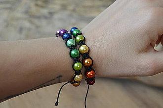 Náramky - * Farebný náramok z perličiek* - 12280307_