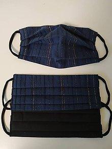 Rúška - Akcia - obojstranné  textilné rúško na tvár - 12278061_