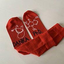 Obuv - Maľované ponožky s titulom a menom (vhodné pre promujúcu lekárku) - 12278277_