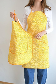 Iné oblečenie - detská žltá zástera - 12277297_