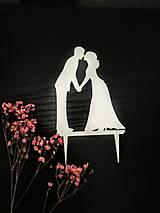 Dekorácie - Svadobný zápich - svadobný pár - 12277319_