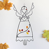 Dekorácie - anjelik jeseň - 12282737_