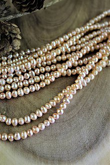 Minerály - perly 4mm-5mm korálky(pravá perla) - 12281678_