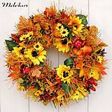 Dekorácie - Veľký jesenný veniec 44 cm - 12282807_