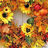 Dekorácie - Veľký jesenný veniec 44 cm - 12282812_