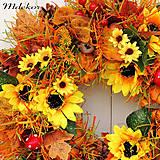 Dekorácie - Veľký jesenný veniec 44 cm - 12282813_