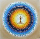 Obrazy - STROM ŽIVOTA (blue) 60 x 60 - 12283512_