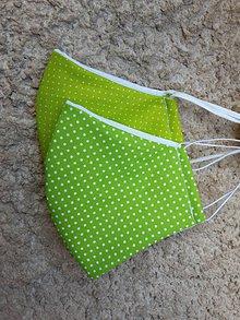Rúška - Tvarované rúška v odtieňoch zelenej - 12282371_
