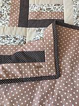 Úžitkový textil - Patchworkový prehoz v hnedých tónoch - 12282757_
