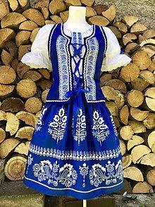 Šaty - Ľudový dámsky kroj modrý - 12281976_