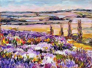 Obrazy - Ďaleko a fialovo... - 12281937_