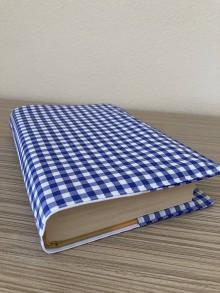 Papiernictvo - Látkový obal na knihu - modrá kocka - 12282702_