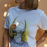 Tričká - Dreaming - biele tričko - 12282410_
