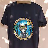 Tričká - Endless summer - čierne tričko - 12282631_