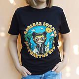 Tričká - Endless summer - čierne tričko - 12282633_