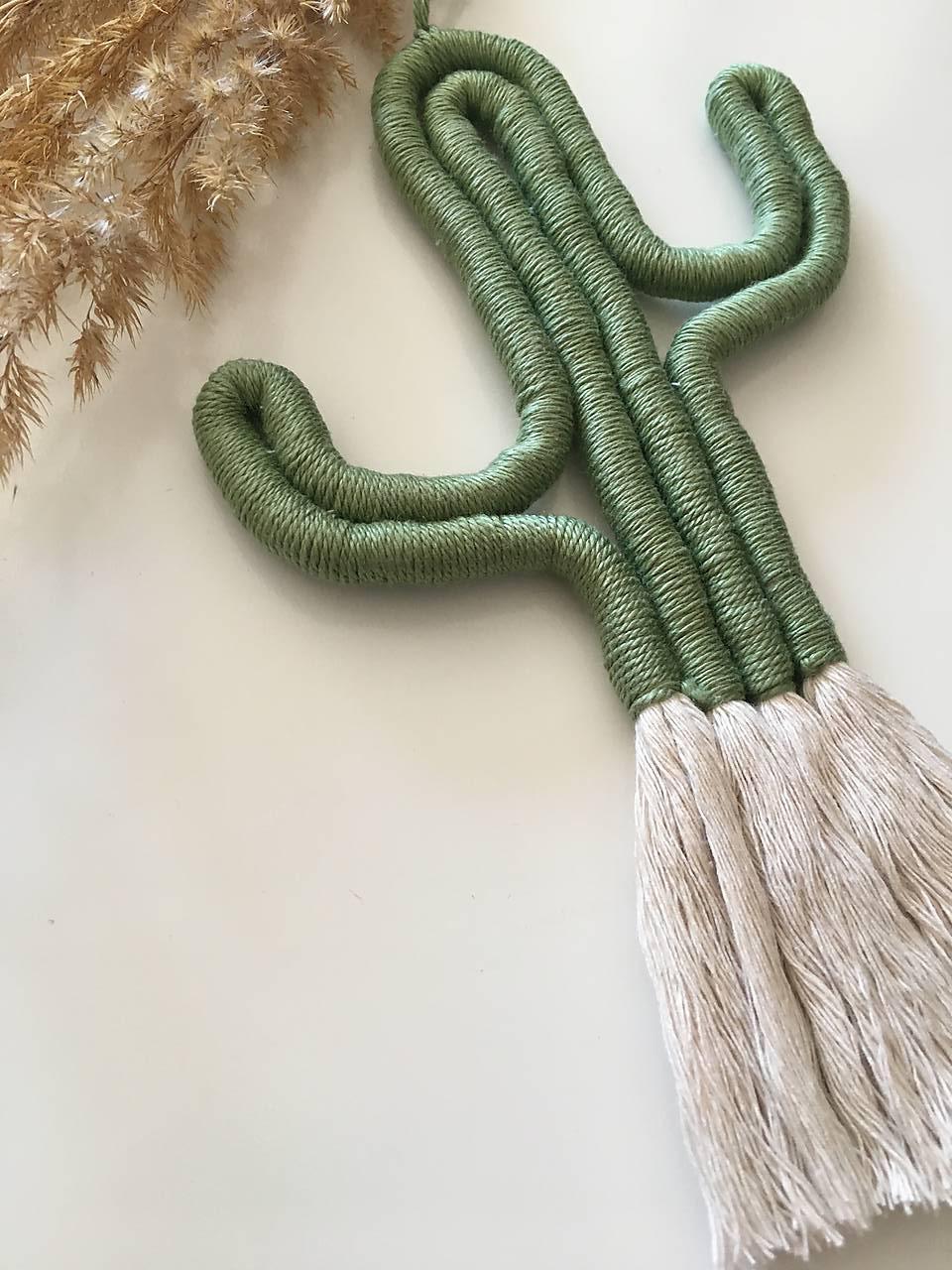 Dekorácie - Kaktus makrame - 12281775_