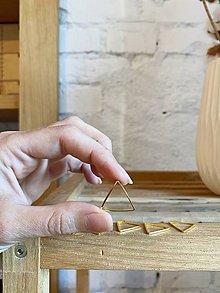 Komponenty - Trojuholník zlatý 20mm, 0.25€/ks - 12281682_