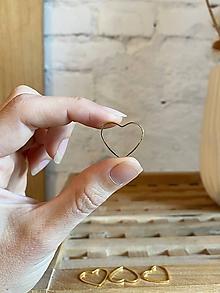 Komponenty - Srdce zlaté 21mm, 0.25€/ks - 12281705_