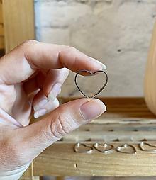 Komponenty - Srdce strieborné 21mm, 0.25€/ks - 12281718_