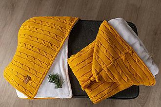 Textil - Fusak, Vrkoč, OEKO-TEX®, kurkumový - 12284216_