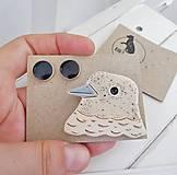 Sady šperkov - Keramický set brošňa a náušnice - 12285117_