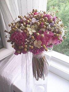 Kytice pre nevestu - Prírodná svadobná kytička ...deň pre našu lásku ... - 12285414_