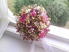 Kytice pre nevestu - Prírodná svadobná kytička + pierko pre ženícha...deň pre našu lásku ... - 12285415_