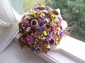 Dekorácie - Prírodná jesenná kytica ... jeseň plná farieb ... - 12285545_
