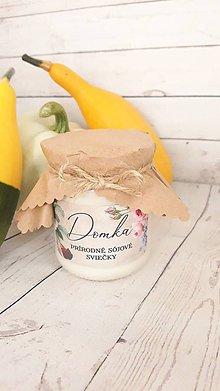 Svietidlá a sviečky - Sójové sviečky 310g (Karamelky) - 12284516_