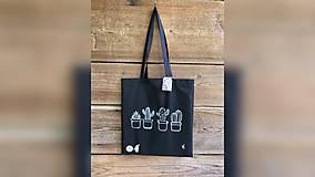 Nákupné tašky - ♥ Plátená, ručne maľovaná taška ♥ - 12284637_
