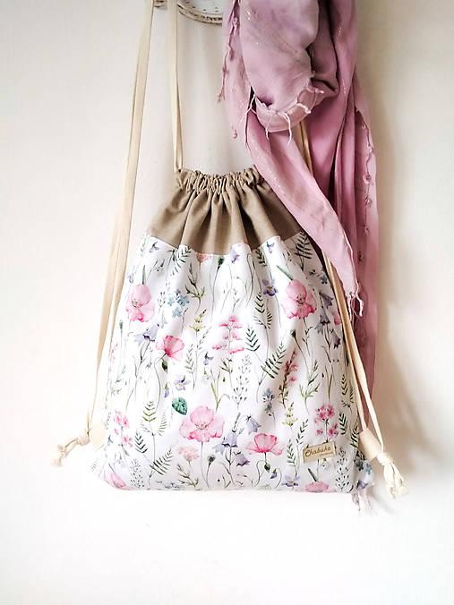 Batohy - Batoh lúčne kvety - 12283885_