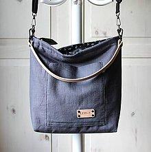 Veľké tašky - Veľká ľanová taška *antracite* - 12283918_