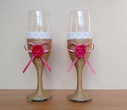 Nádoby - Svadobné poháre ❤️ - 12285129_