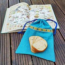 Úžitkový textil - Zero waste Ľanové vreckúško s podšívkou - 12284645_