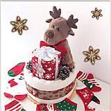 Detské doplnky - Plienková torta SOBÍK (vianočná) - 12284469_
