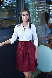 Sukne - Zavinovací sukně ANETT, bordó - 12286527_