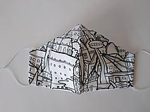 Rúška - VÝPREDAJ dámske dizajnové rúško prémiová bavlna antibakteriálne s časticami striebra dvojvrstvové tvarované - 12286213_