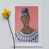 Grafika - I smelt flowers at Susan`s garden grafika - 12287716_
