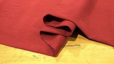 Textil - Flauš - cena za 10 centimetrov (Vínová) - 12288943_