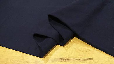 Textil - Flauš - cena za 10 centimetrov (Tmavá Modrá) - 12288949_