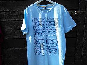 Oblečenie - čičmany-tričko-muži - 12291860_