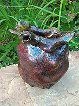 Socha - Dekoratívna nádoba raku - 12290595_