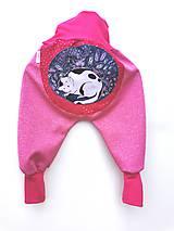 """Detské oblečenie - Softshellky """"sleeping kitty""""  - 12288760_"""