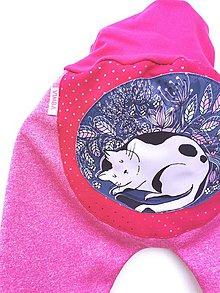 """Detské oblečenie - Softshellky """"sleeping kitty"""" - 12288759_"""