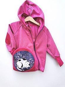 "Detské oblečenie - Softshellka ""sleeping kitty"" posledné 2 kusy v. 86-92 - 12288777_"