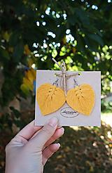 Náušnice - Macramé Náušnice - Lístky Jeseň - 12289435_