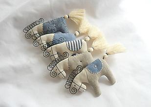 Dekorácie - Koníky séria modrá - 12289964_