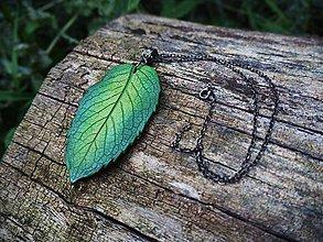 Náhrdelníky - Mätový náhrdelník - mäta - 12289278_